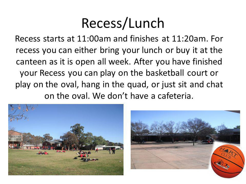 Recess/Lunch