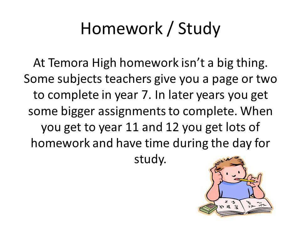 Homework / Study