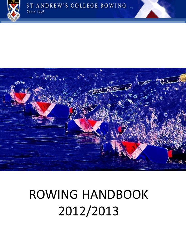 ROWING HANDBOOK 2012/2013