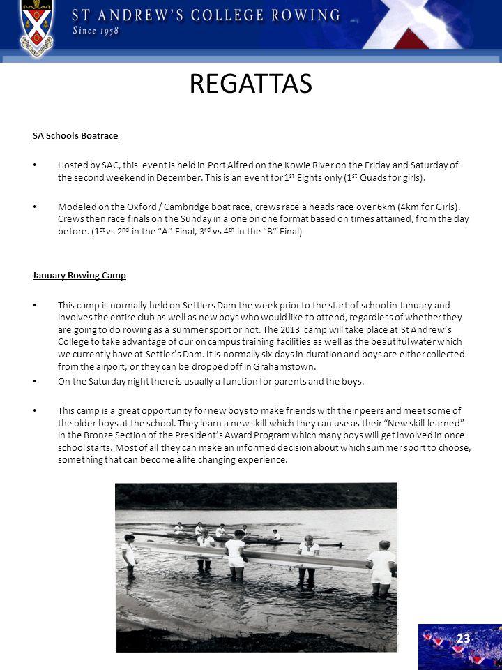 REGATTAS SA Schools Boatrace