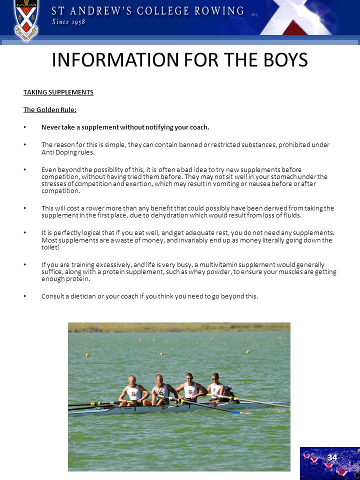 INFORMATION FOR THE BOYS
