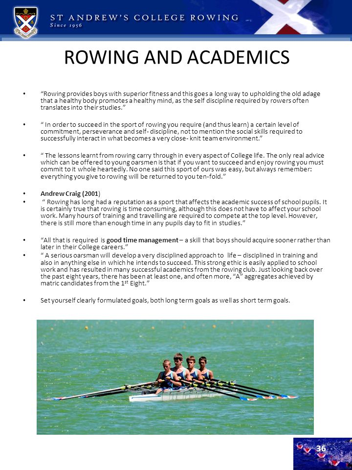 ROWING AND ACADEMICS