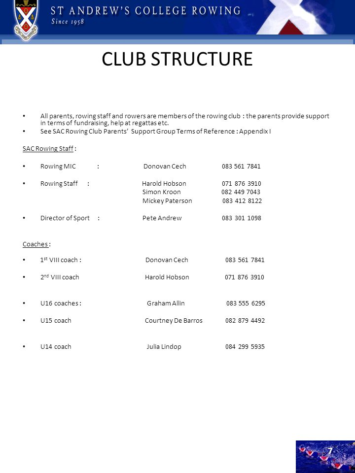 CLUB STRUCTURE
