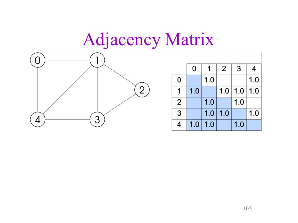 Adjacency Matrix 105