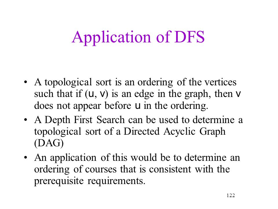 Application of DFS