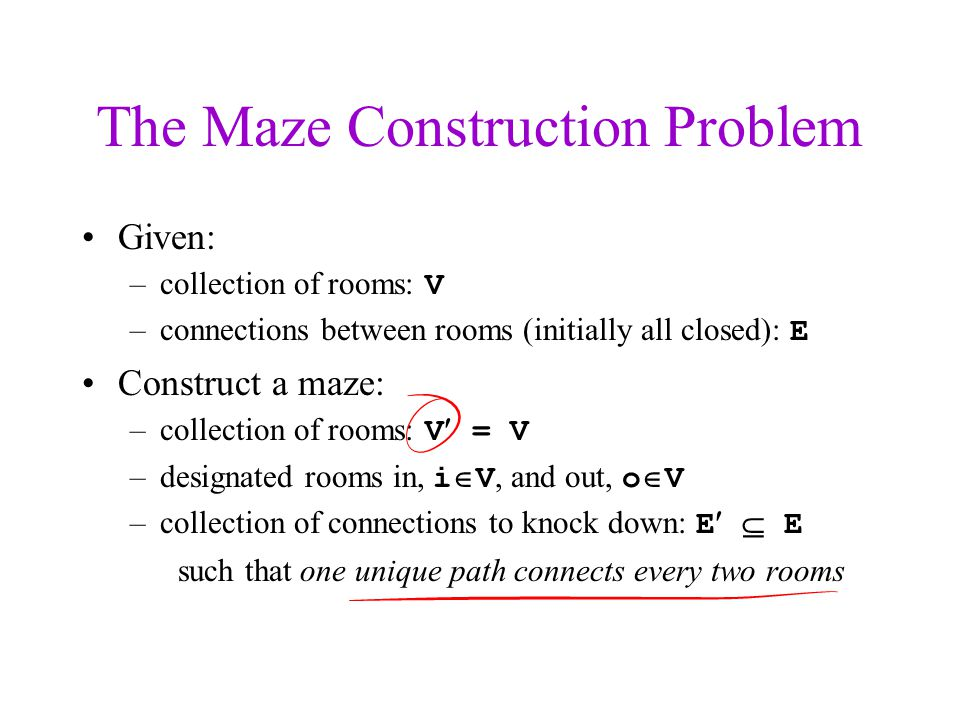 The Maze Construction Problem