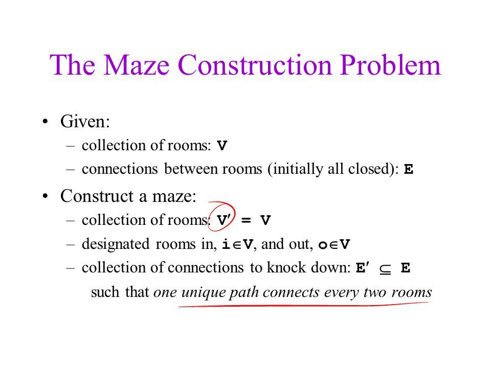 The Maze Construction Problem