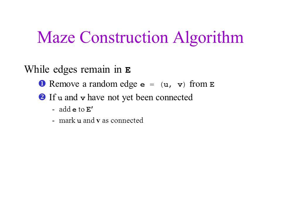 Maze Construction Algorithm