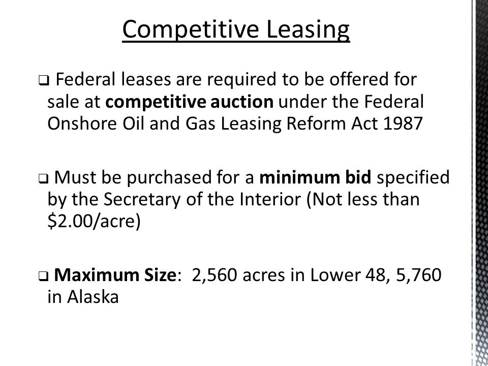 Competitive Leasing