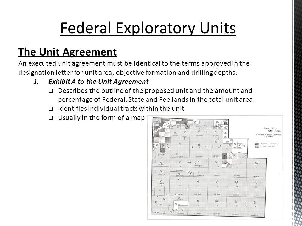 Federal Exploratory Units