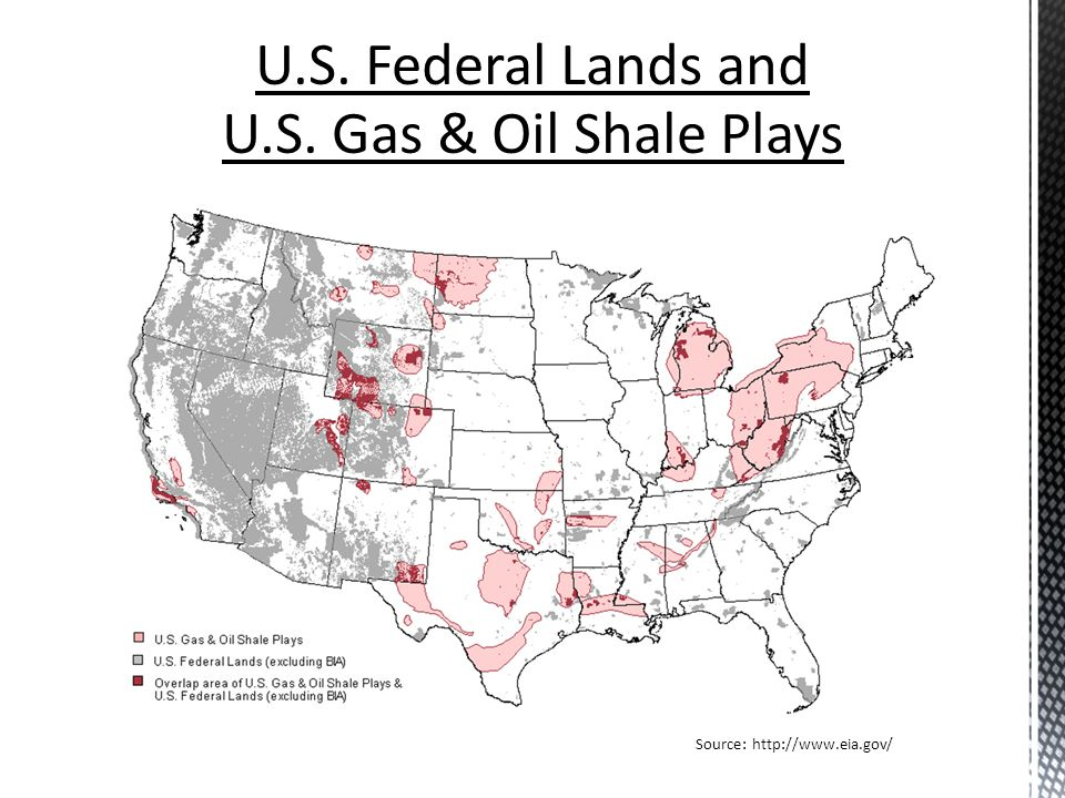 U.S. Federal Lands and U.S. Gas & Oil Shale Plays