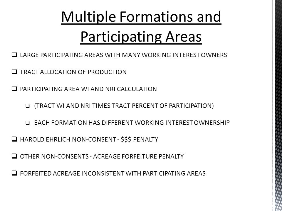Multiple Formations and