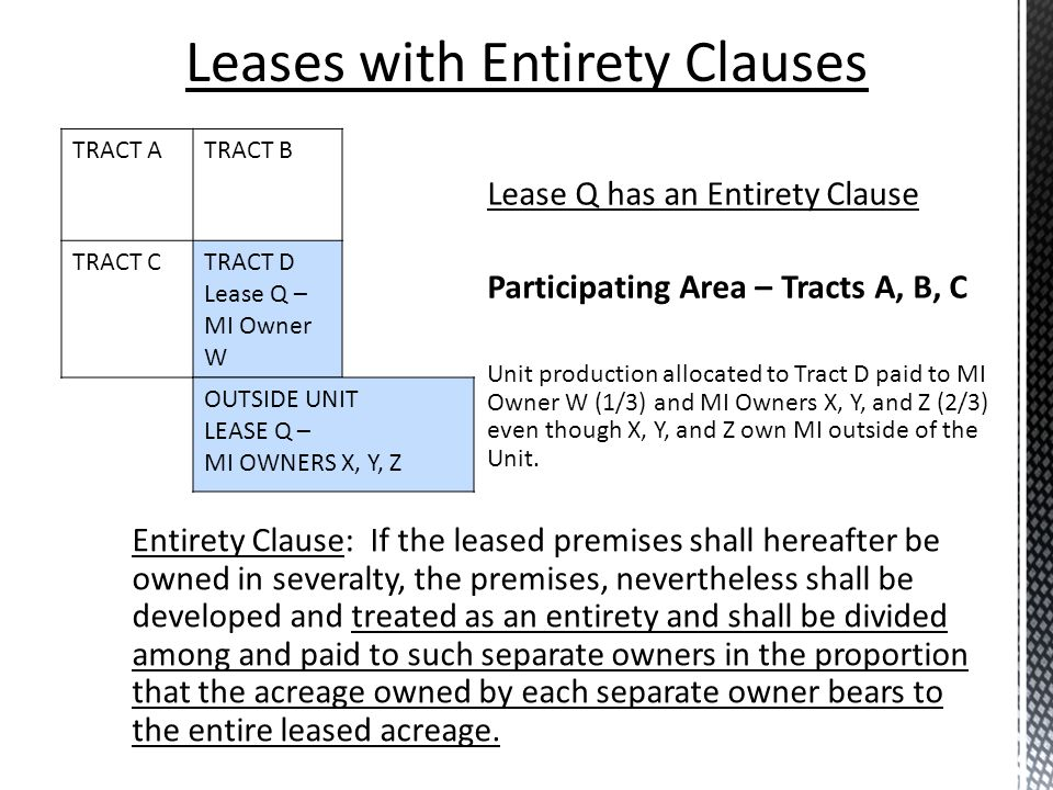Leases with Entirety Clauses