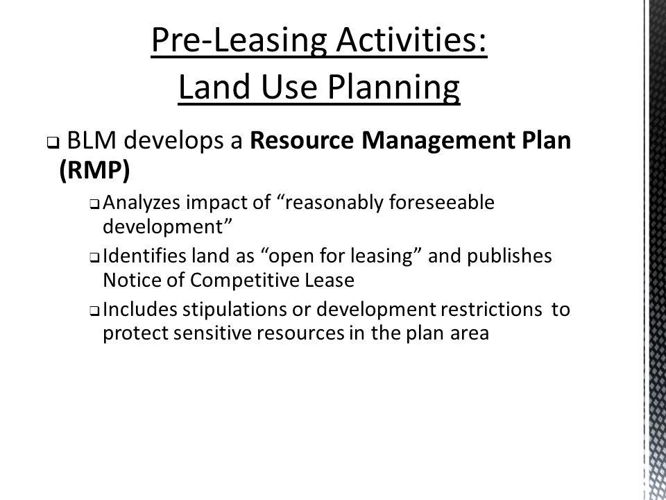 Pre-Leasing Activities: