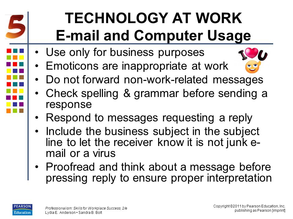 TECHNOLOGY AT WORK E-mail and Computer Usage