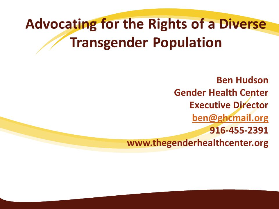 Advocating for the Rights of a Diverse Transgender Population