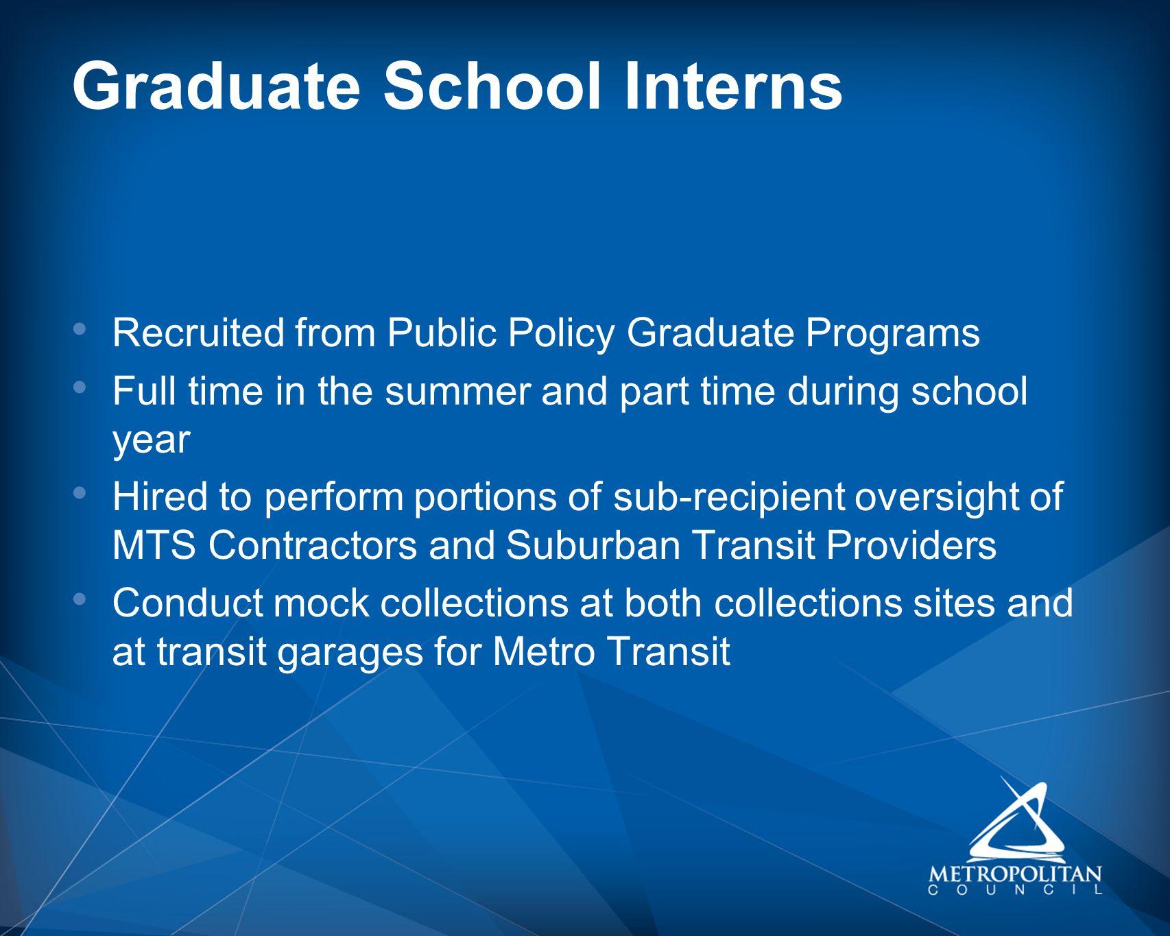 Graduate School Interns