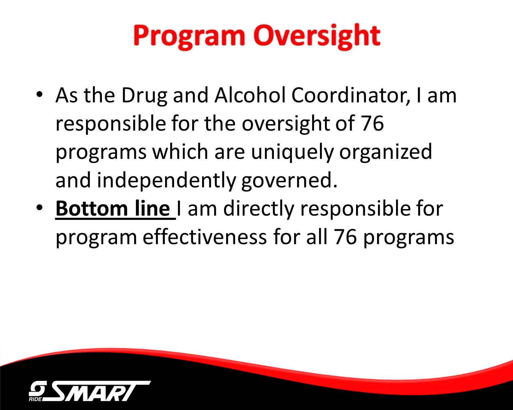 Program Oversight