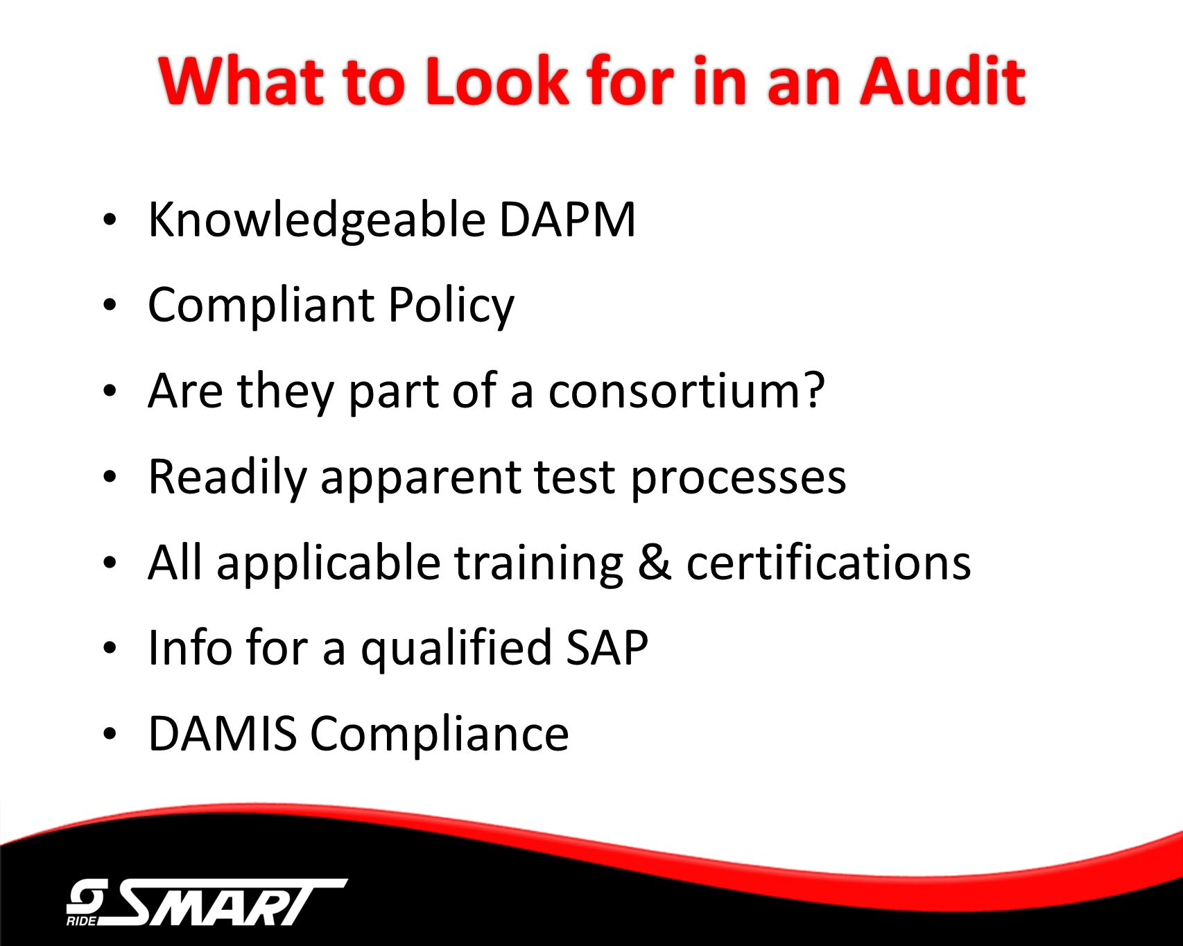 What to Look for in an Audit