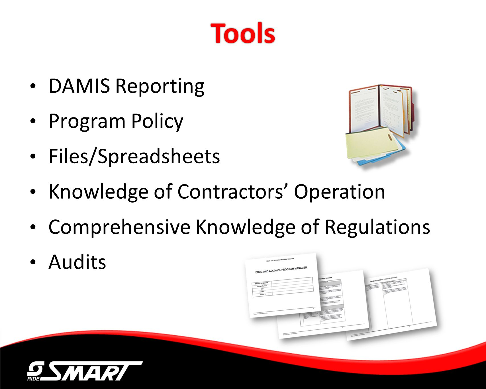 Tools DAMIS Reporting Program Policy Files/Spreadsheets