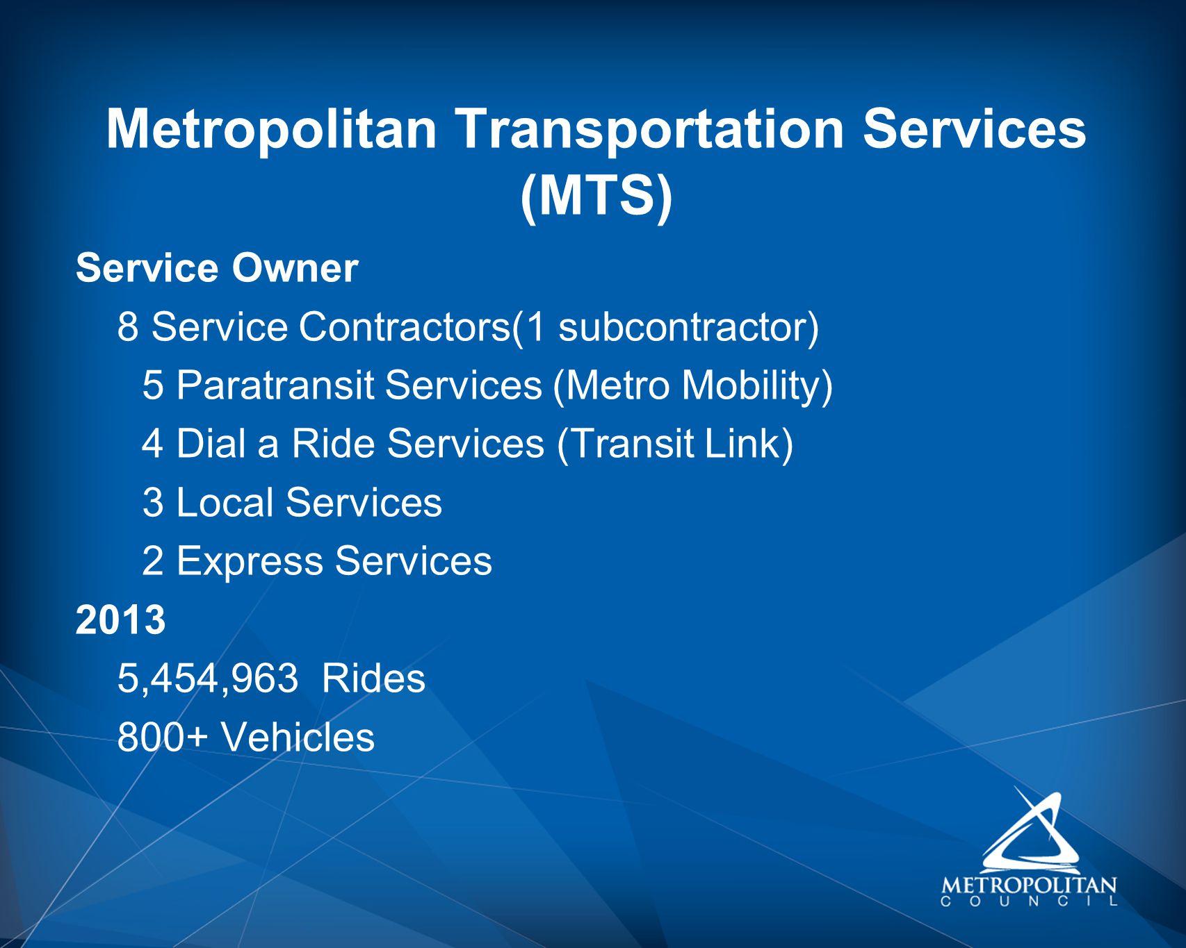 Metropolitan Transportation Services (MTS)