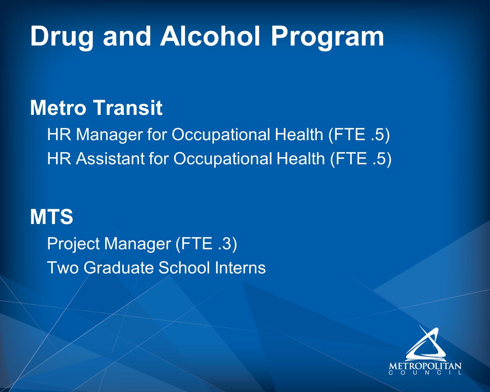Drug and Alcohol Program