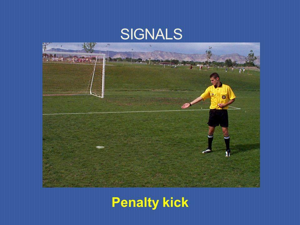 SIGNALS Penalty kick