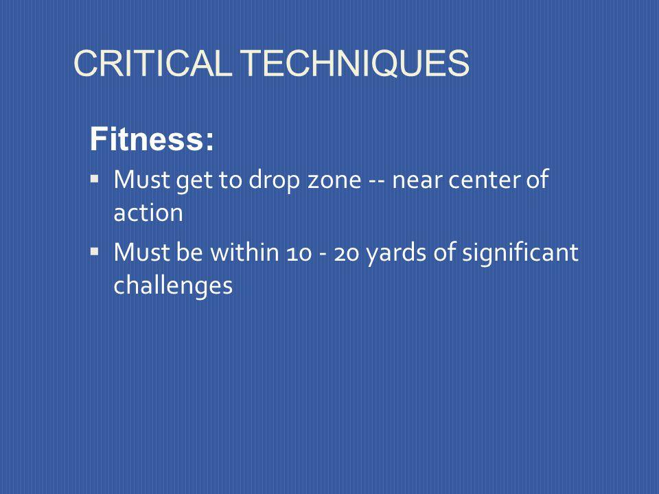 CRITICAL TECHNIQUES Fitness: