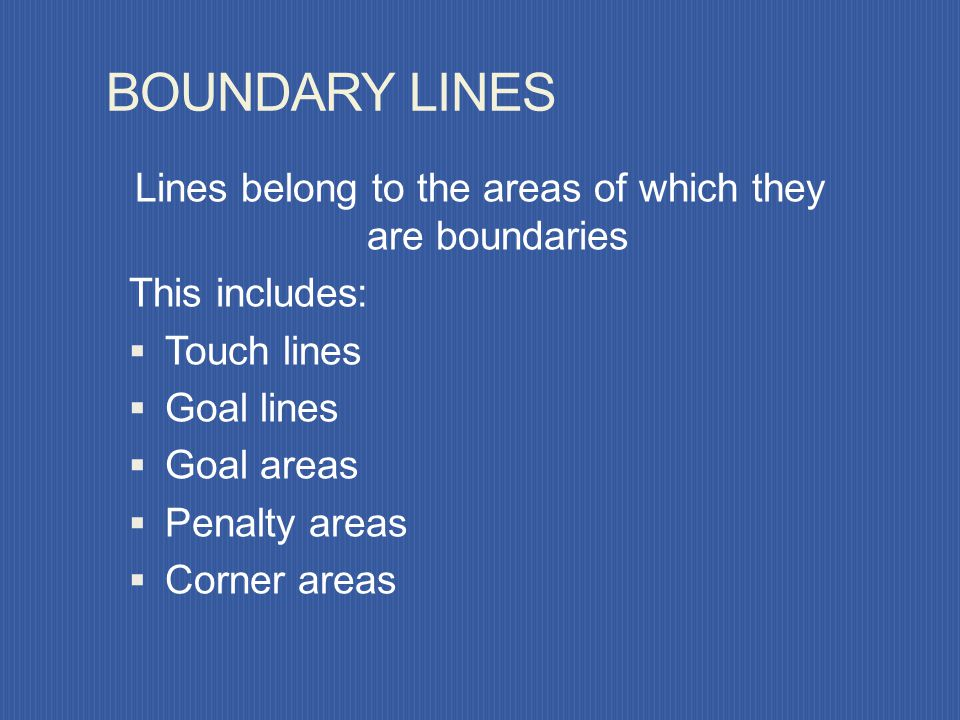 Lines belong to the areas of which they are boundaries