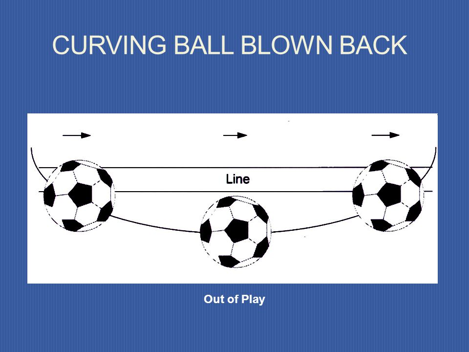 CURVING BALL BLOWN BACK