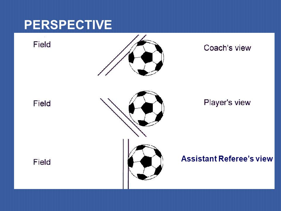 Assistant Referee's view