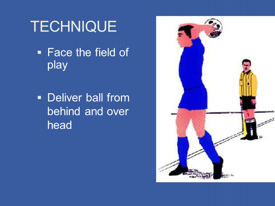 TECHNIQUE Face the field of play