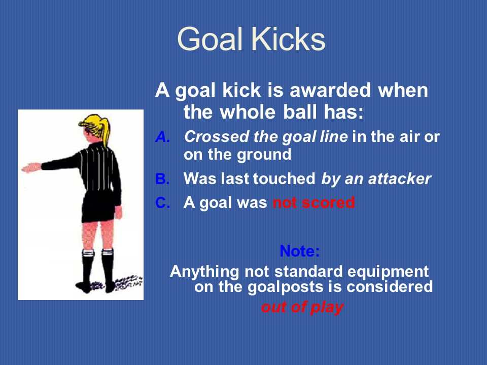 Anything not standard equipment on the goalposts is considered
