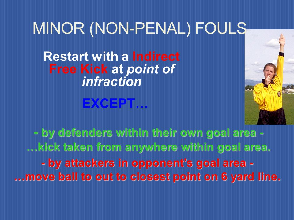 MINOR (NON-PENAL) FOULS