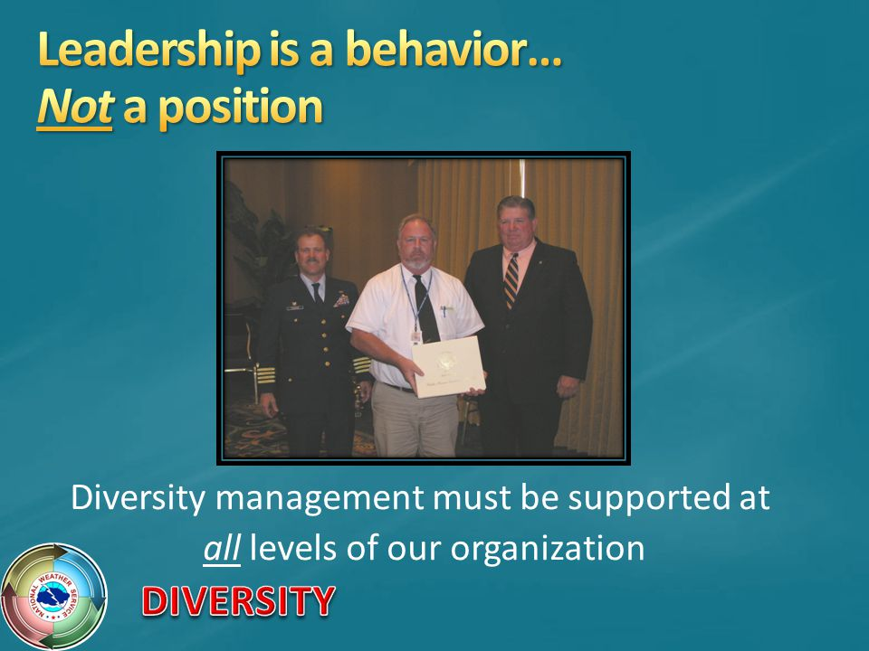 Leadership is a behavior… Not a position