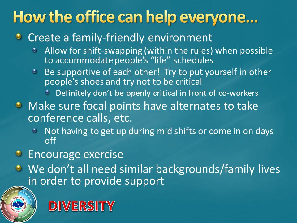 How the office can help everyone…