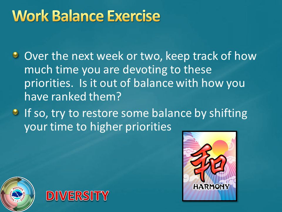Work Balance Exercise