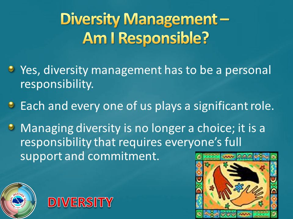 Diversity Management – Am I Responsible
