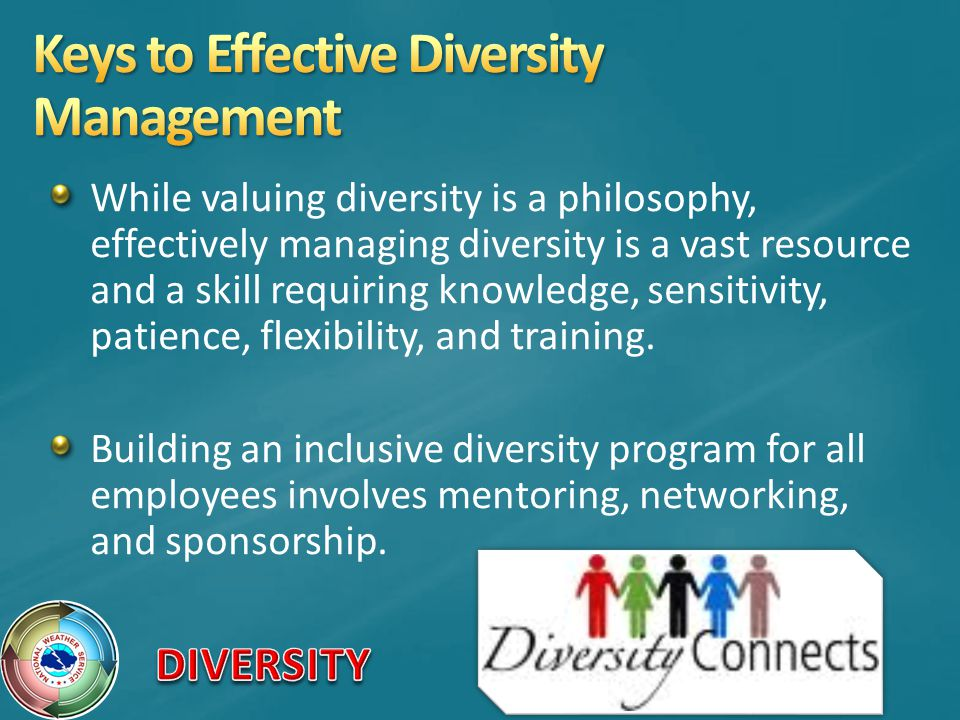 Keys to Effective Diversity Management