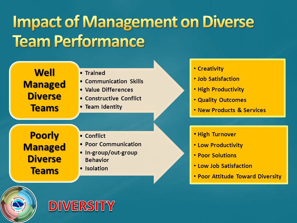 Impact of Management on Diverse Team Performance