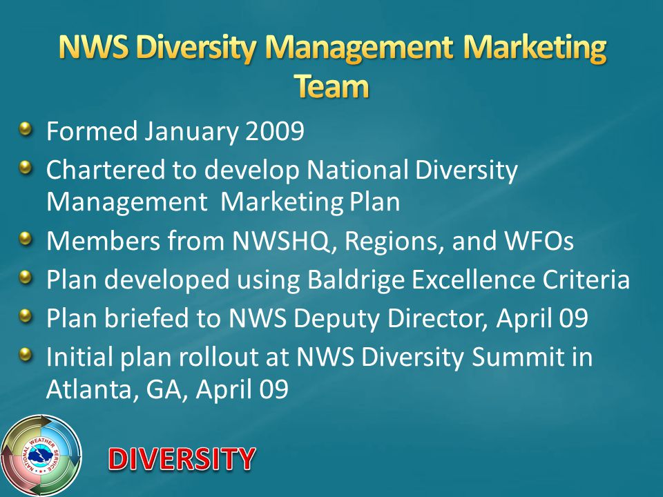 NWS Diversity Management Marketing Team