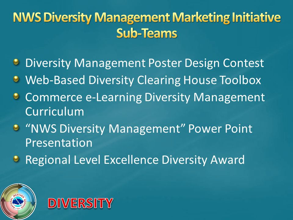 NWS Diversity Management Marketing Initiative Sub-Teams