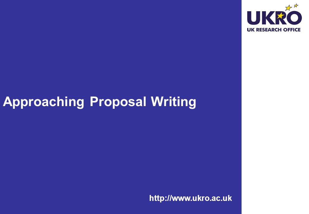 Approaching Proposal Writing