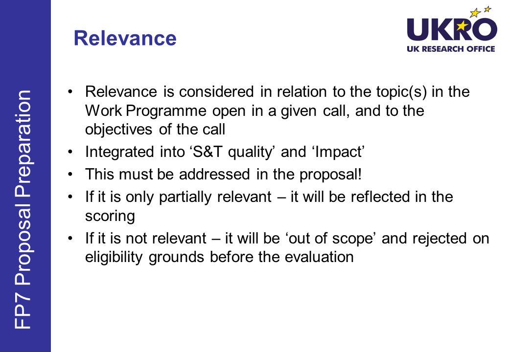 FP7 Proposal Preparation