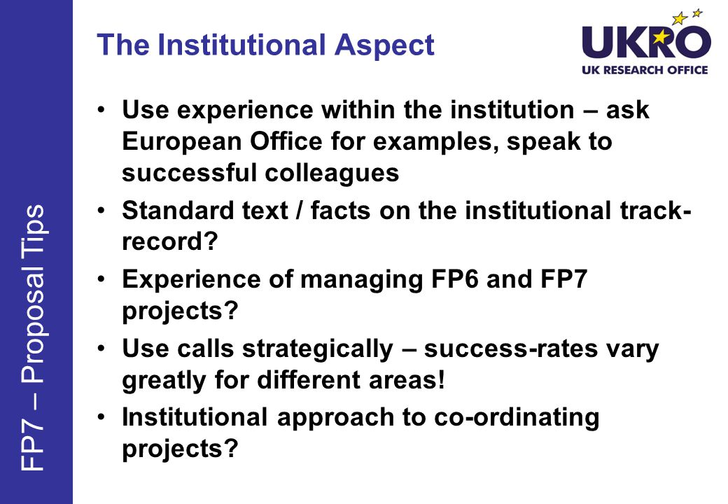 The Institutional Aspect