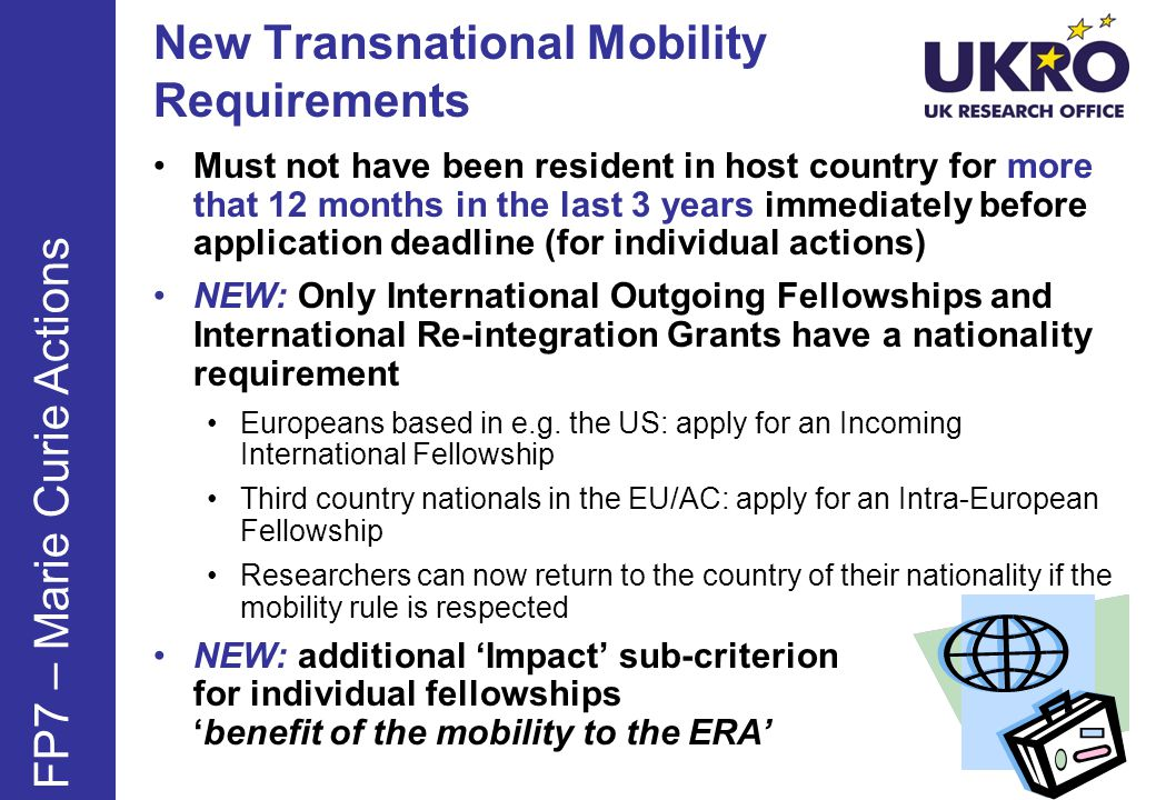 New Transnational Mobility Requirements