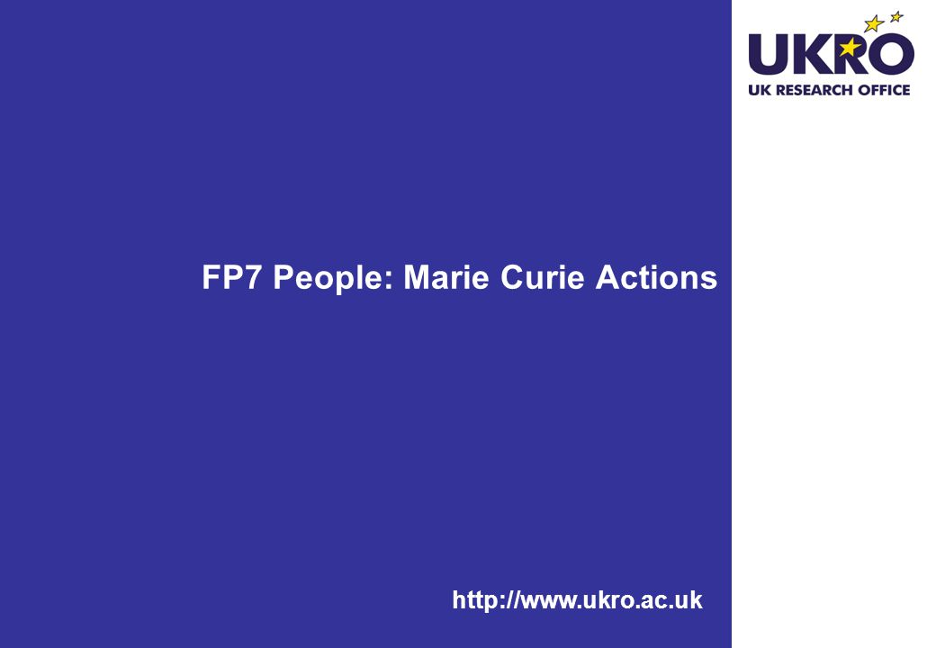 FP7 People: Marie Curie Actions