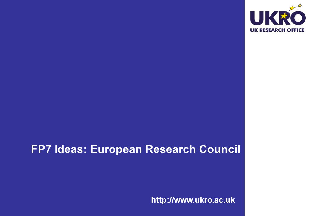FP7 Ideas: European Research Council