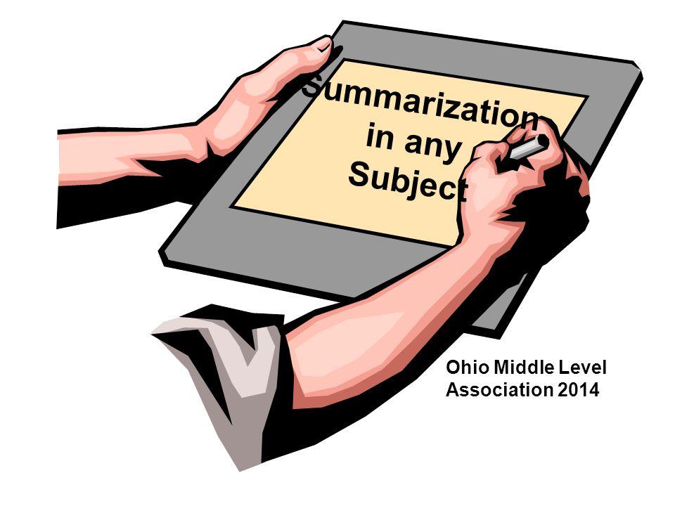 Summarization in any Subject