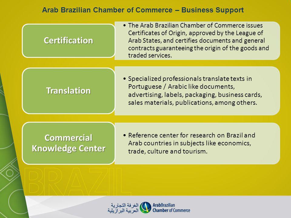 Arab Brazilian Chamber of Commerce – Business Support